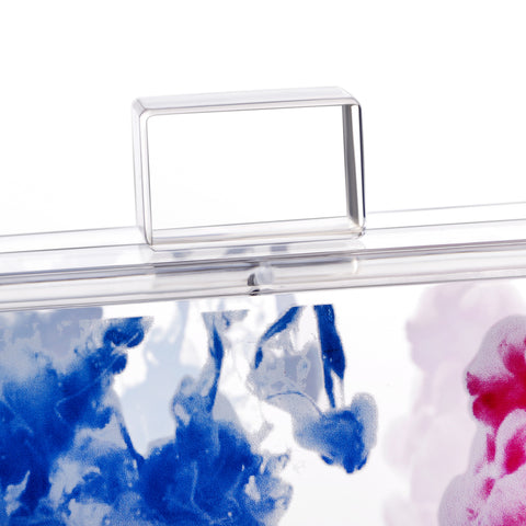 Abstract Art Acrylic Lucite Box Clutch