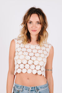 Daisy Crochet Crop Top