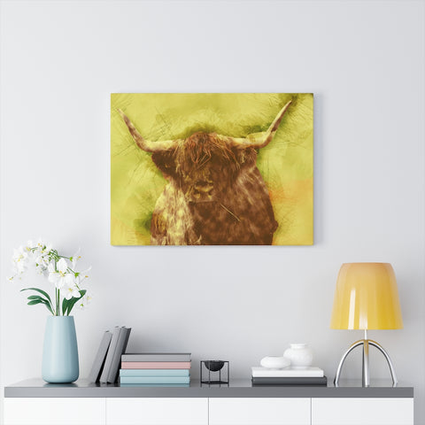Image of Scottish Highland Cow Angus Wall Art