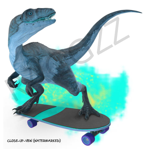 Dinosaur Wheels Skateboard Kids Sneakers