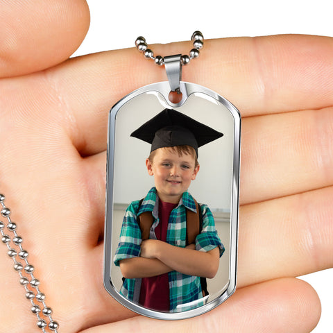 Image of grandma gift photo necklace