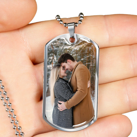 Image of photo personalized necklace dog tag