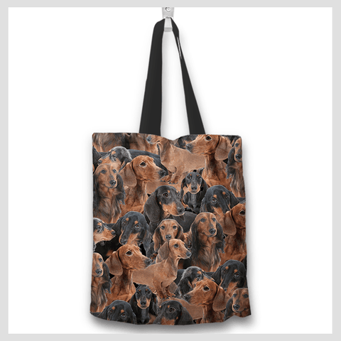 Dachshund lovers tote bag