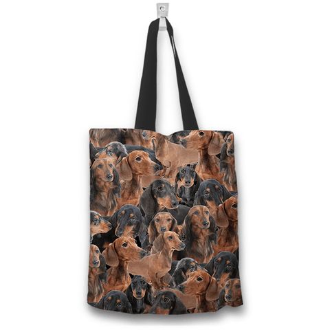 Image of Dachshund lovers tote bag