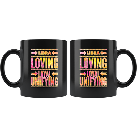 Libra Astrology Quote Black Mug