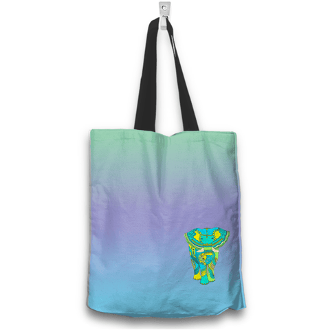 Image of Elephant Boho Tote Bag Back View