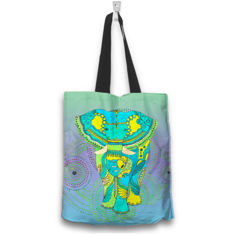 Image of Elephant Boho Tote Bag