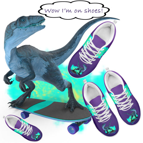 kids dinosaur shoes custom design