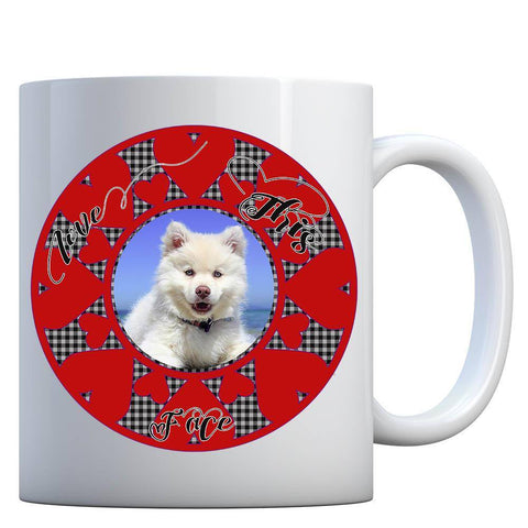 Image of personalized pet photo mug add photo