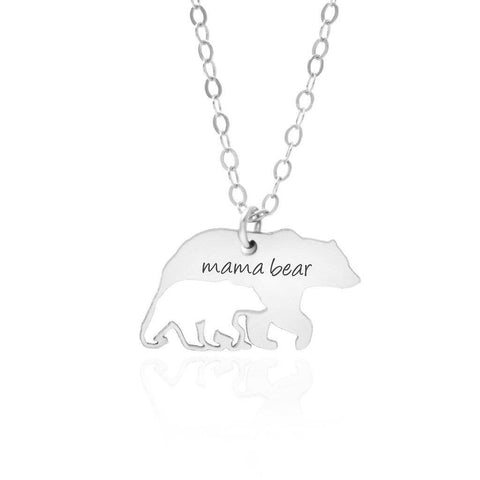 Mama Bear Baby Bear Necklace