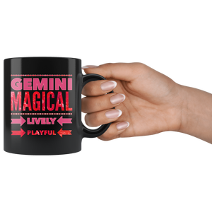 Gemini Astrology Quote Black Mug