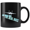 Air Force Wife Real Boss Black Mug