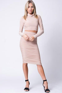Slim Fit Top and Skirt Set