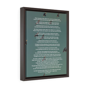 Memory Poem Gallery Framed Wrapped Canvas