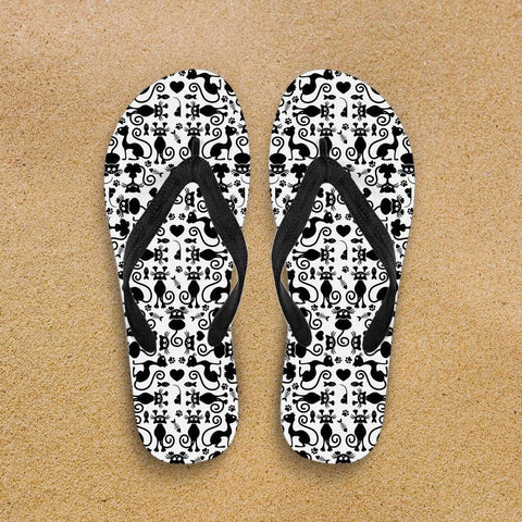 Image of Cats White Flip-Flops