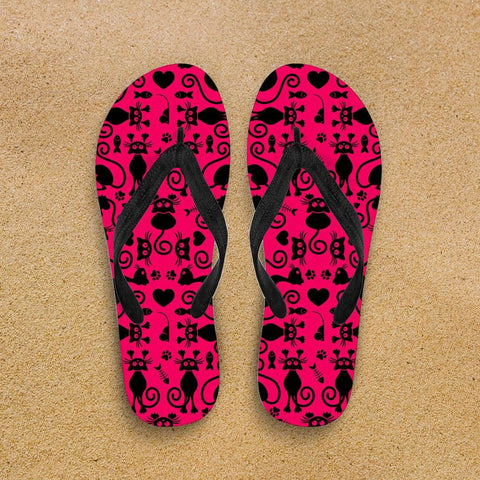 Image of Cats Pink Flip-Flops