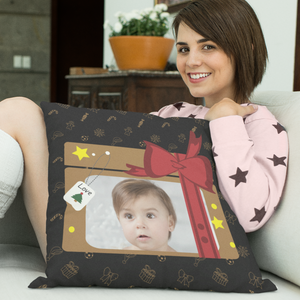 personalized photo pillow christmas holidays