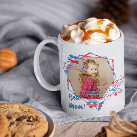Image of personalized photo mug mom gift