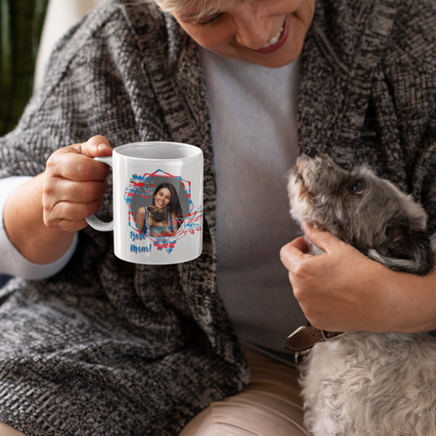 Image of gift for mom add photo to mug
