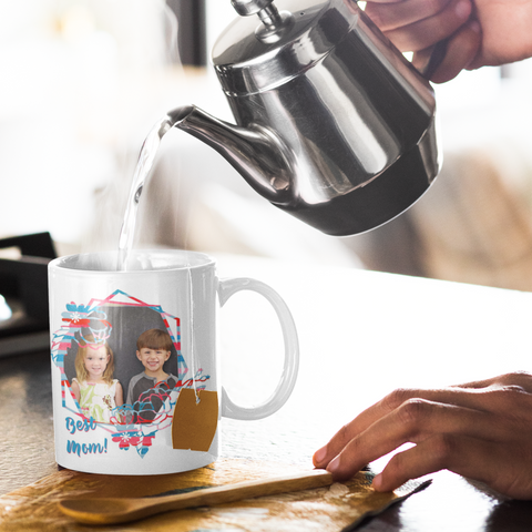 Image of custom mother's gift photo mug