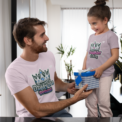Daddy Daughter King Princess Matching Shirts