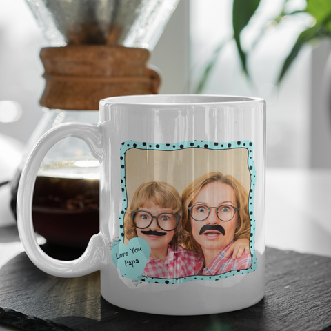 Image of love you papa personalized photo mug gift