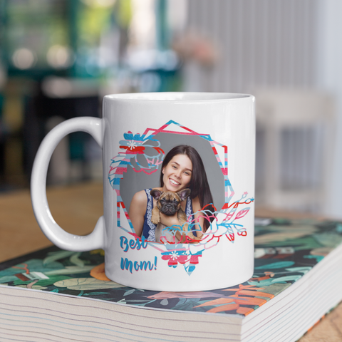 Image of personalized gift for mom photo mug