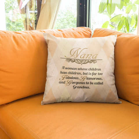 Image of Nana gift faux suede pillow case