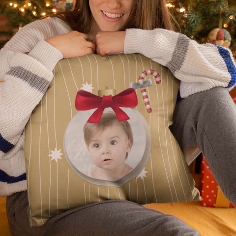 Image of add photo christmas pillow