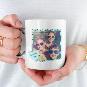 love you mom personalized white mug add photo