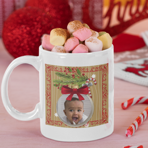 personalized christmas photo mug gift