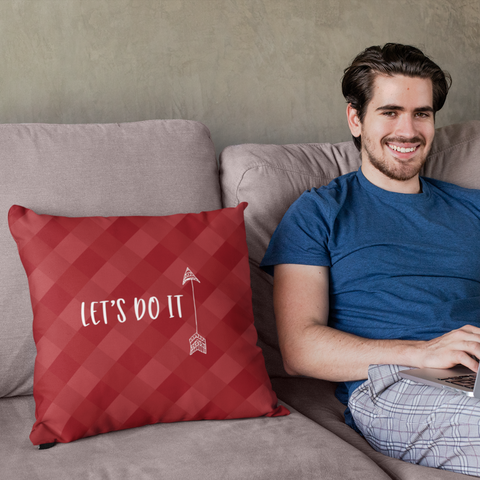 Image of couples lets do it message pillow