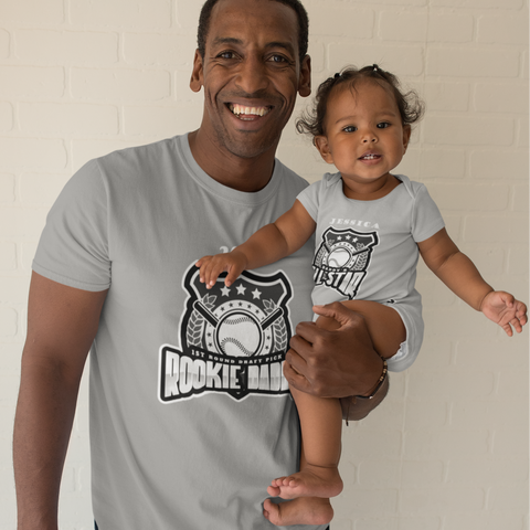 Daddy Baby Baseball All Star Shirt Matching Baby One Piece