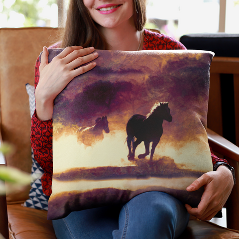 wild horses pillowcase