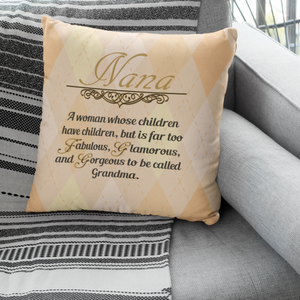 Nana gift faux suede pillow case