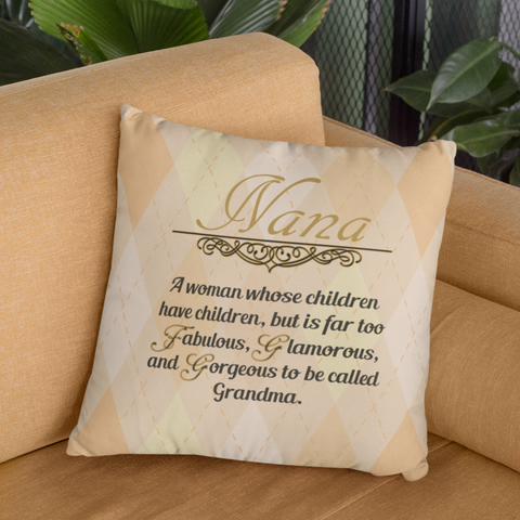 Image of nana gift nana quote pillowcase