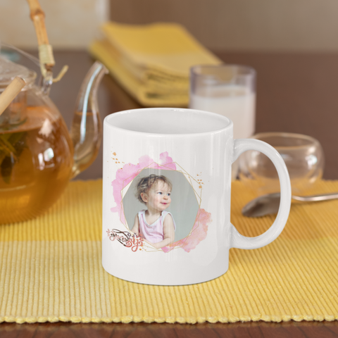 Image of magic photo mug for mom color changes