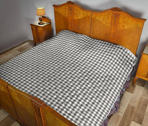 Image of Buffalo Plaid Quilt Black and White Bufalo Check
