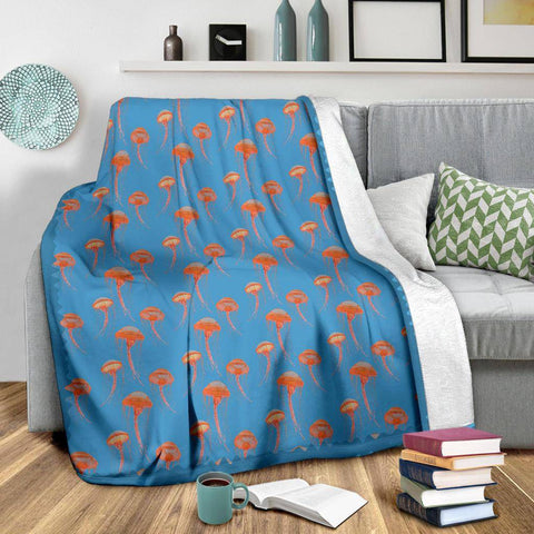 Image of Jellyfish Blanket in Blue