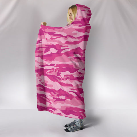 Image of Ultimate Pink Camo Hooded Blanket