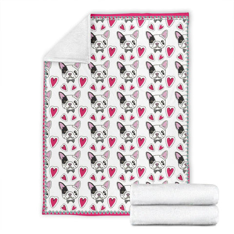 French Bulldog Hearts Blanket