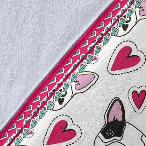Image of French Bulldog Hearts Premium Blanket