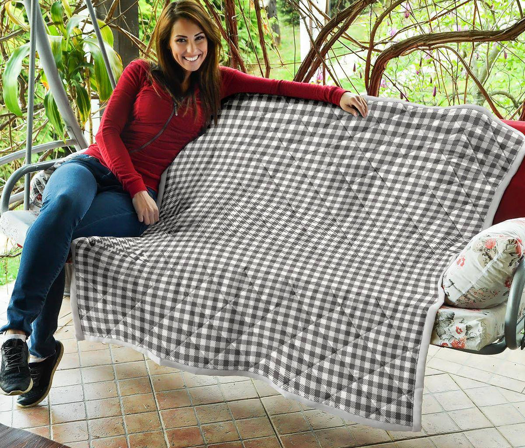Buffalo Plaid Quilt Black and White Bufalo Check