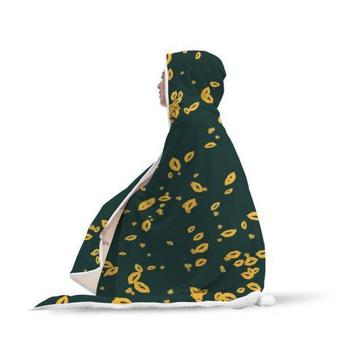 Image of Green Bay Fans Hooded Blanket