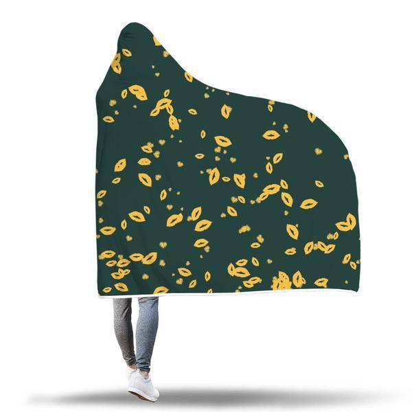 Green Bay Fans Hooded Blanket