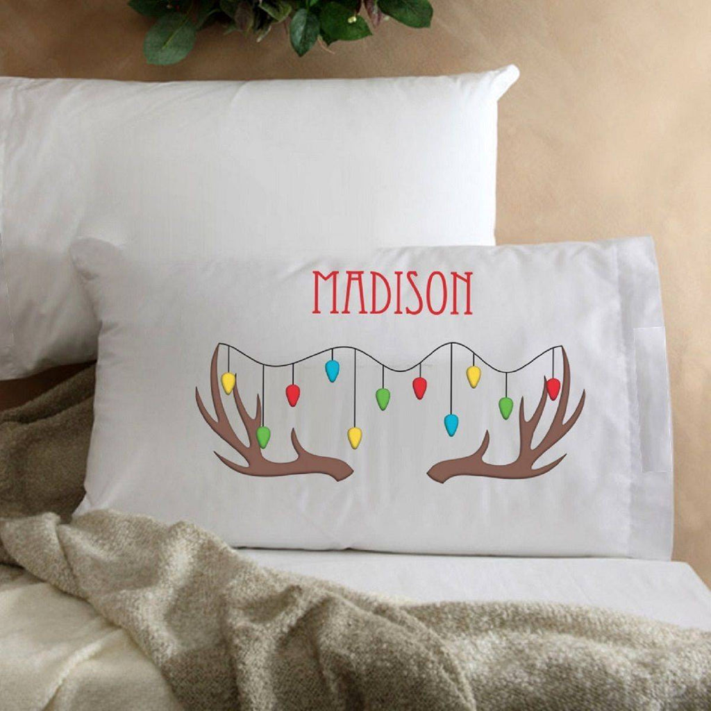 Reindeer Personalized Pillowcase