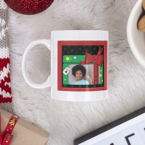 Image of personalized photo mug holiday