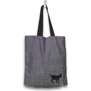 No Goats No Glory Tote Bag Two Sides Two Designs in Gray Back View