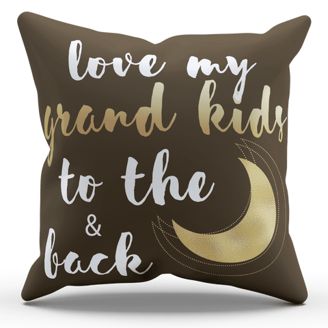 Love My Grandkids To The Moon and Back Pillowcase