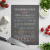 glass cutting board grandma gift